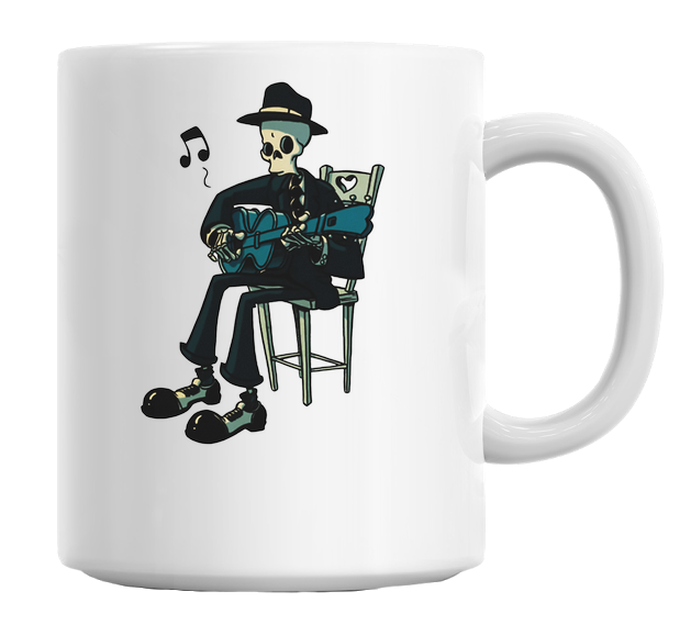 Skeleton Guitarist Mug
