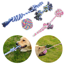 4pcs/Lot Pet Toys for Dog Chew Knot Puppy Toy Cotton Braided Bone Rope Funny Pet Supplies for Small Dogs to Medium Dogs
