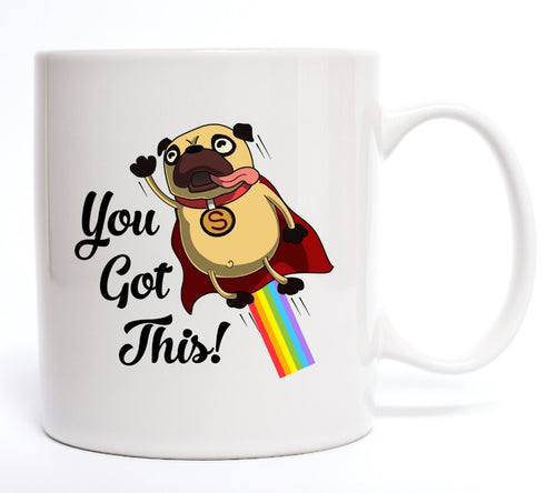 You Got This dog Pug mugs beer travel milk cup porcelain coffee mug tea cups friend gift birthday gifts home decor kitchen decal
