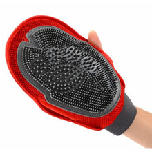 Pet Finger For Dog Cat Fur Grooming Groom Glove Mitt Brush Comb Massage Bath dog wash tool Bubble pets finger Health Supplies
