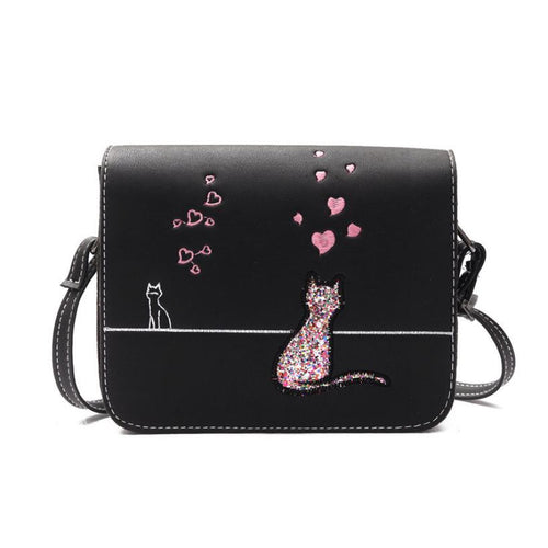 Xiniu women bag cross body print Cat Pattern Women Messenger Bag Csmall high quality pu leather Shoulder Bags #5M
