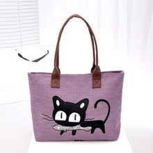 Xiniu Women Small Canvas Bag Cute Cat  Bag Women Shoulder bags  mochila feminina #LREW