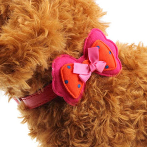 Super Deal  New Double Bowknot Adjustable Pet Collars Cat Dog Puppy Pet Collars XT