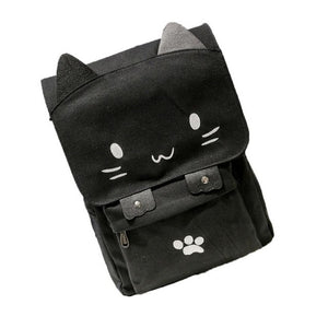 Xiniu Cute Cat Printing Canvas Cartoon Backpacks for teenage girls japanese school backpacks Rucksack Dropshipping #7M