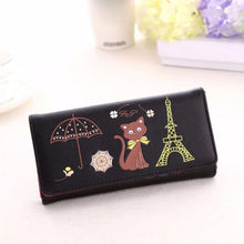 Wallets For 2016 Fashion Women Girl Cat Tower Coin Purse Wallet Card Holders Women's Handbag mochila feminina