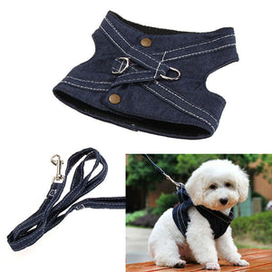 dog leash Practical Canvas Pet Dog Vest Type Traction Rope Dog Puppy Walking Tool Leash Lead Safe Dog harness Pet Supplies