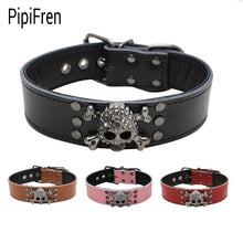 PipiFren Genuine leather Big Dogs Collars Accessories For Large Dog Necklace Supplies Pets Collar collier pour chien mascotas