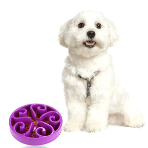 Dog Cat Pet PP Bowl Slow Feed Interactive Puzzle Non-Skid bowls Dog Feeding watering Supplies Dish Feeder