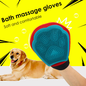 Pet Cat Fur Grooming Glove Massage Hair Removal Wash Brush Cleaning Supplies