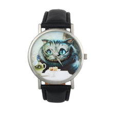 2017 women's watches kol saati Casual Cute Cat Womens pu Leather Band Analog Quartz Dial Wrist Watch montre femme #