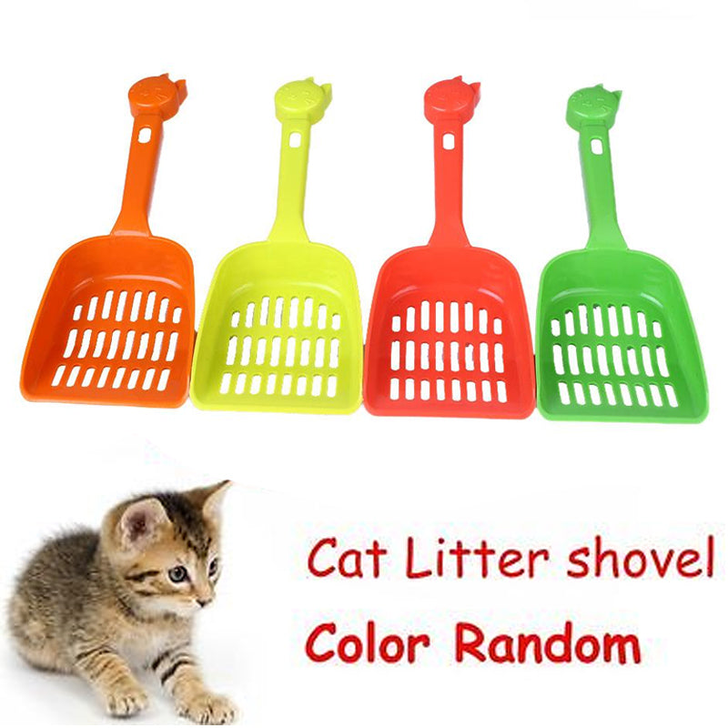 New Pet Cat Cleaning Tool Plastic Cat Sand Quality Pet Supplies Color Random