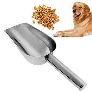 Stainless Steel Pet Feed Food Supplies Puppy Feeding Dog Food Scoop  Accessories High-Quality