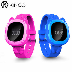 KINCO GPS GPRS WIFI LBS Tracker Anti-off Alert Waterproof Watch GPS Locator SOS Call Smart Bracelets for Kids for IOS/Android