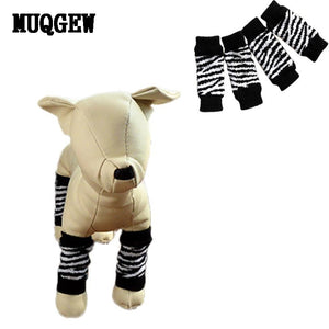 Pet Dog Leg Socks Zebra-stripe Cute Warm Socks Dog Non-slip Pet Leg Warmers Warm Sock meias dog clothes for small dogs
