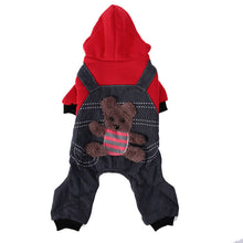 Warm Dog Clothes Puppy Outfit Dog Coat Pet Thicken Four Leg Cotton Coat with Cap XS S M L XL XXL Pet Supplies Yellow / Red