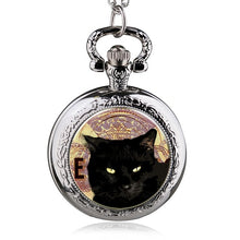 silver cute colorful cute yellow cat chain pocket watch necklace wholesale buyer low price antibrittle lady girl women