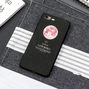 Ruo Dawn New Phone Cases For iphone 6 6S 7 8 Plus X Relief Stars Moon Soft Rubber Back Cover High Quality Anti-knock Capa