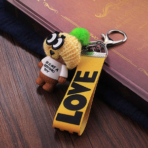 New Arrival Cute Teddy Bear Key Chain'THIS IS NOT A KOSCHINO TOY'Bear KeyChain Animal Pattern Key Holder