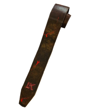 LK Strap Brown With Red Paint Splatter