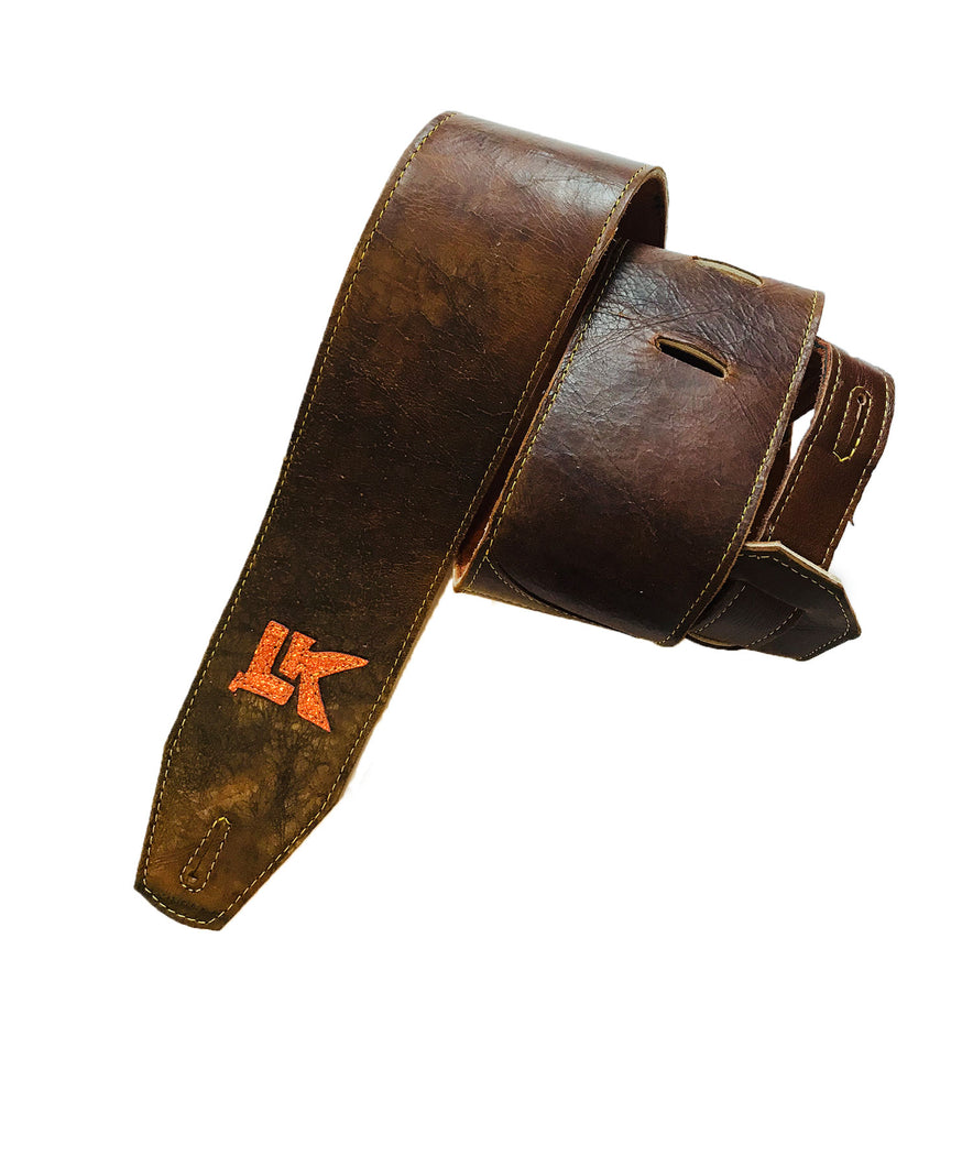 LK Dark Brown Light Distressed Brown Strap