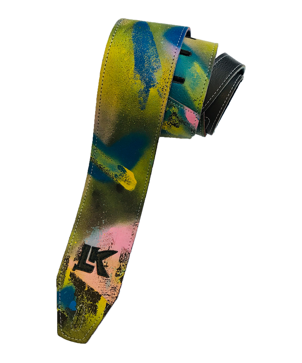 LK Blue Pink Yellow Spray Paint Strap