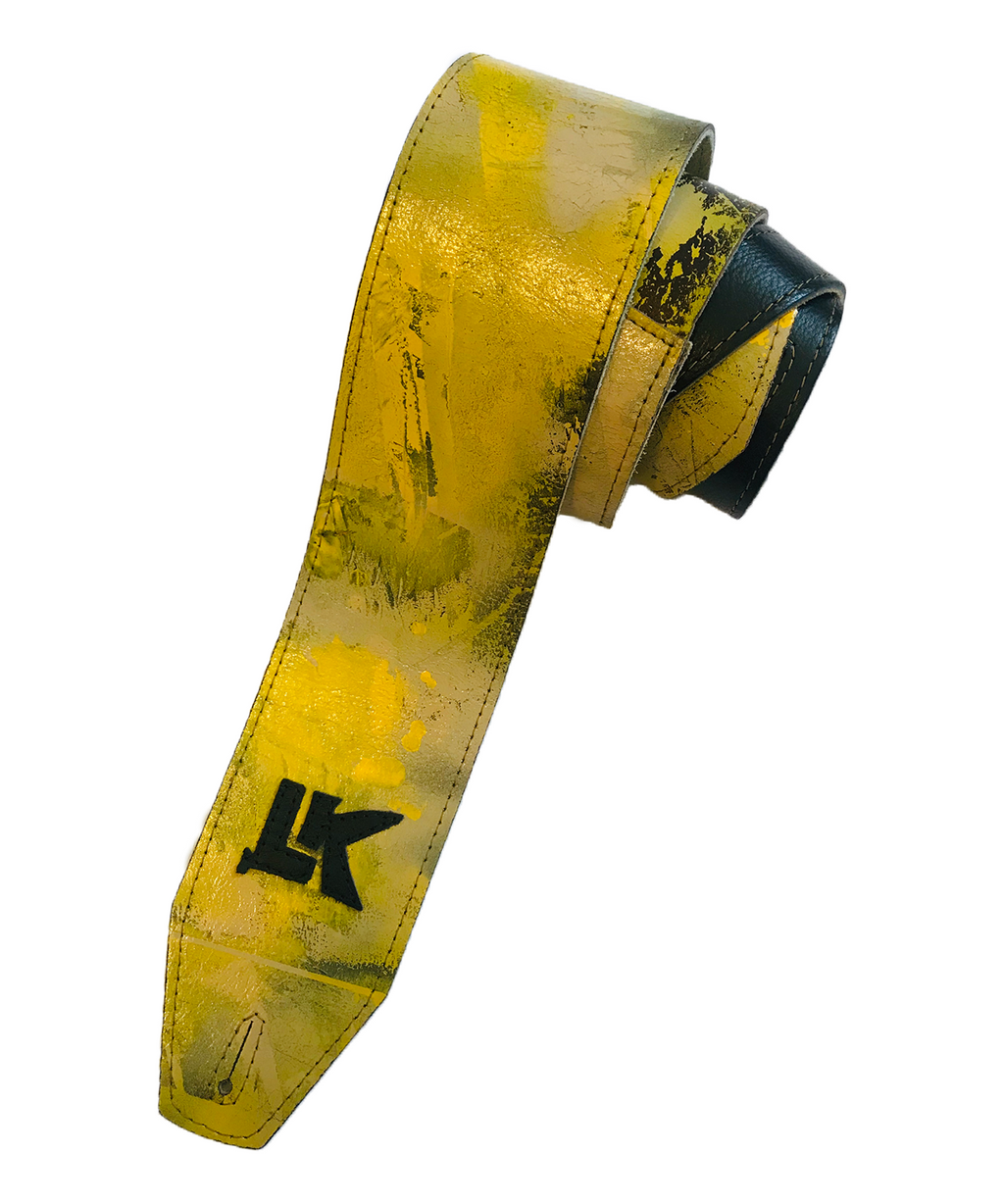 LK Yellow Brown Grey Spray Paint Strap