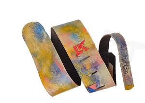 LK Blue Yellow Pink Spray Paint Strap