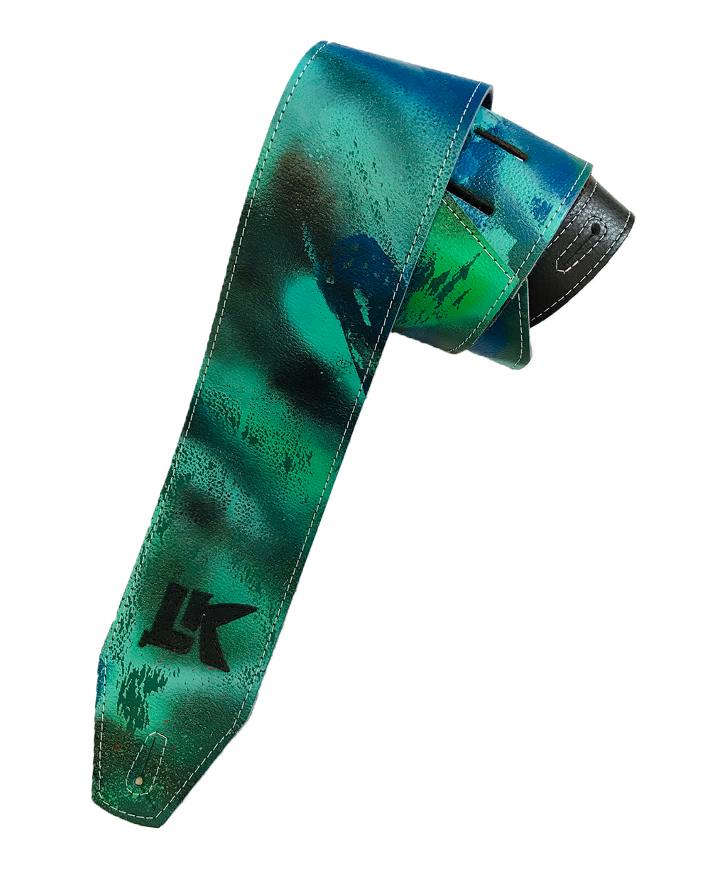 LK Green Blue Black Spray Paint Strap