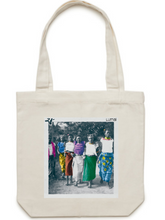 "Colorized ""Varden"" Print on Cotton Canvas Tote"