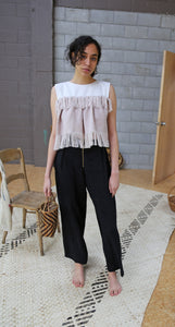 DINA WIDE LEGGED PLEATED PANTS
