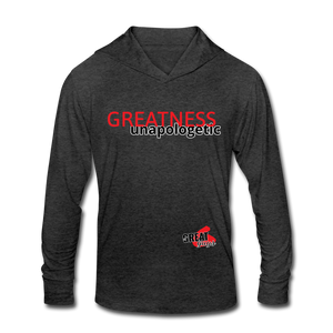 Tri-Blend Hoodie Shirt - heather black