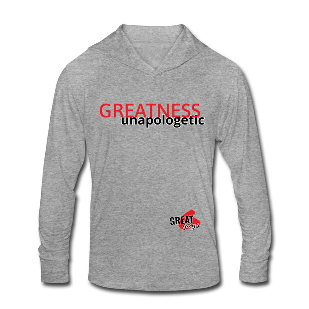 Tri-Blend Hoodie Shirt - heather gray