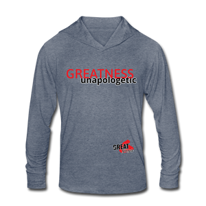 Tri-Blend Hoodie Shirt - heather blue