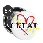 Love Buttons large 2.2'' (5-pack) - white