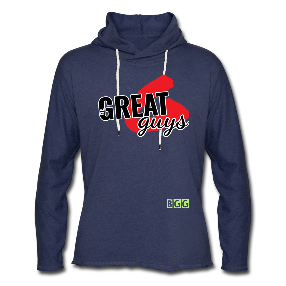 Push Greatness Lightweight Terry Hoodie - heather navy