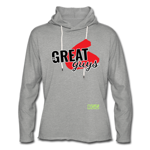 Push Greatness Lightweight Terry Hoodie - heather gray
