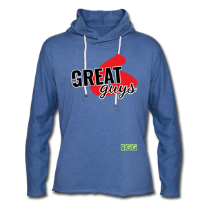 Push Greatness Lightweight Terry Hoodie - heather Blue