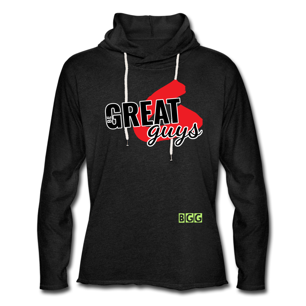 Push Greatness Lightweight Terry Hoodie - charcoal gray