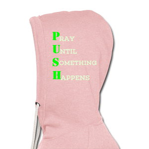 Push Greatness Lightweight Terry Hoodie - cream heather pink