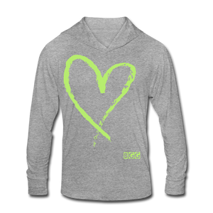 Love More Tri-Blend Shirt Hoodie - heather gray