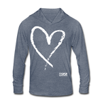 Love More Tri-Blend Hoodie Shirt - heather blue