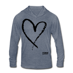 Love More-Blend Hoodie Shirt - heather blue