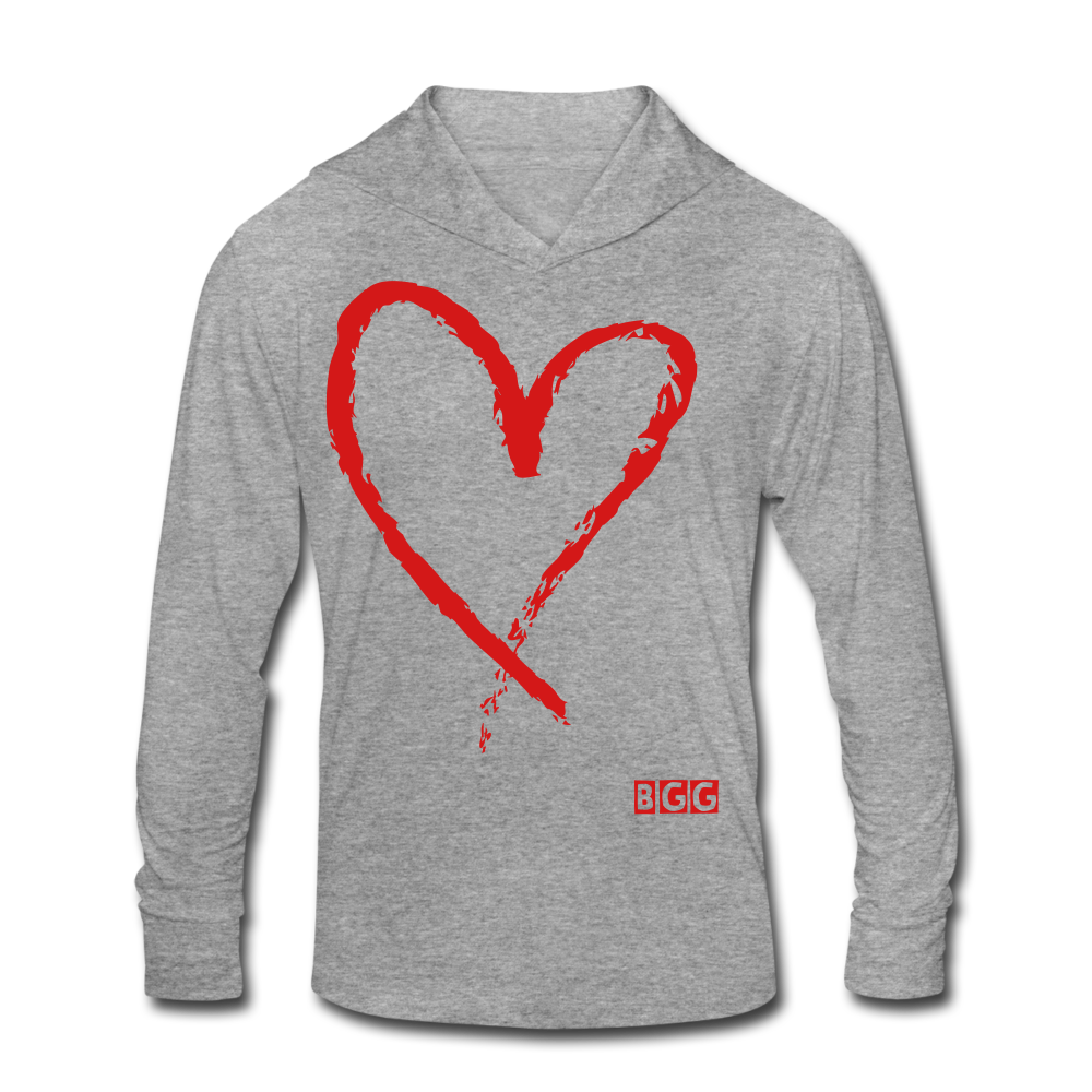Love Move Tri-Blend Hoodie Shirt - heather gray