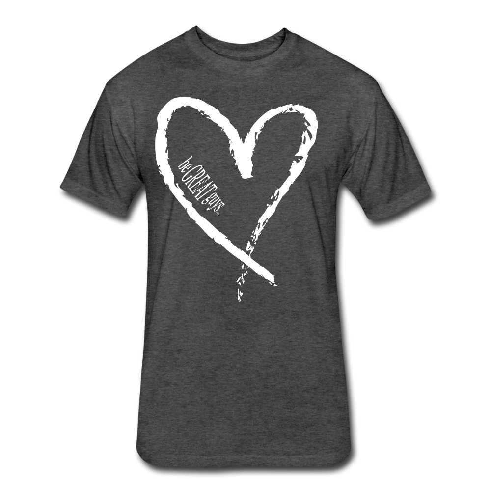 Love More Tri-blend T - heather black