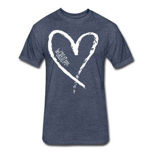 Love More Tri-blend T - heather navy