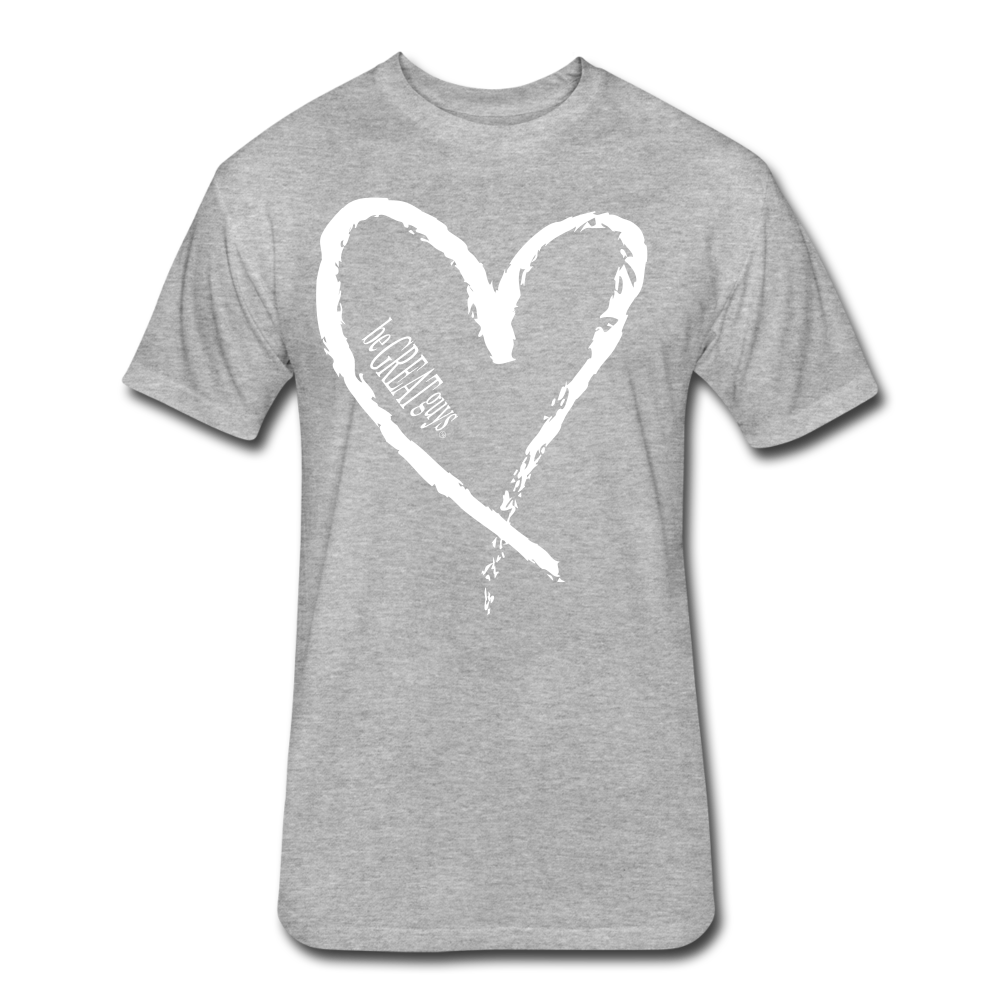 Love More Tri-blend T - heather gray