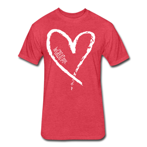 Love More Tri-blend T - heather red