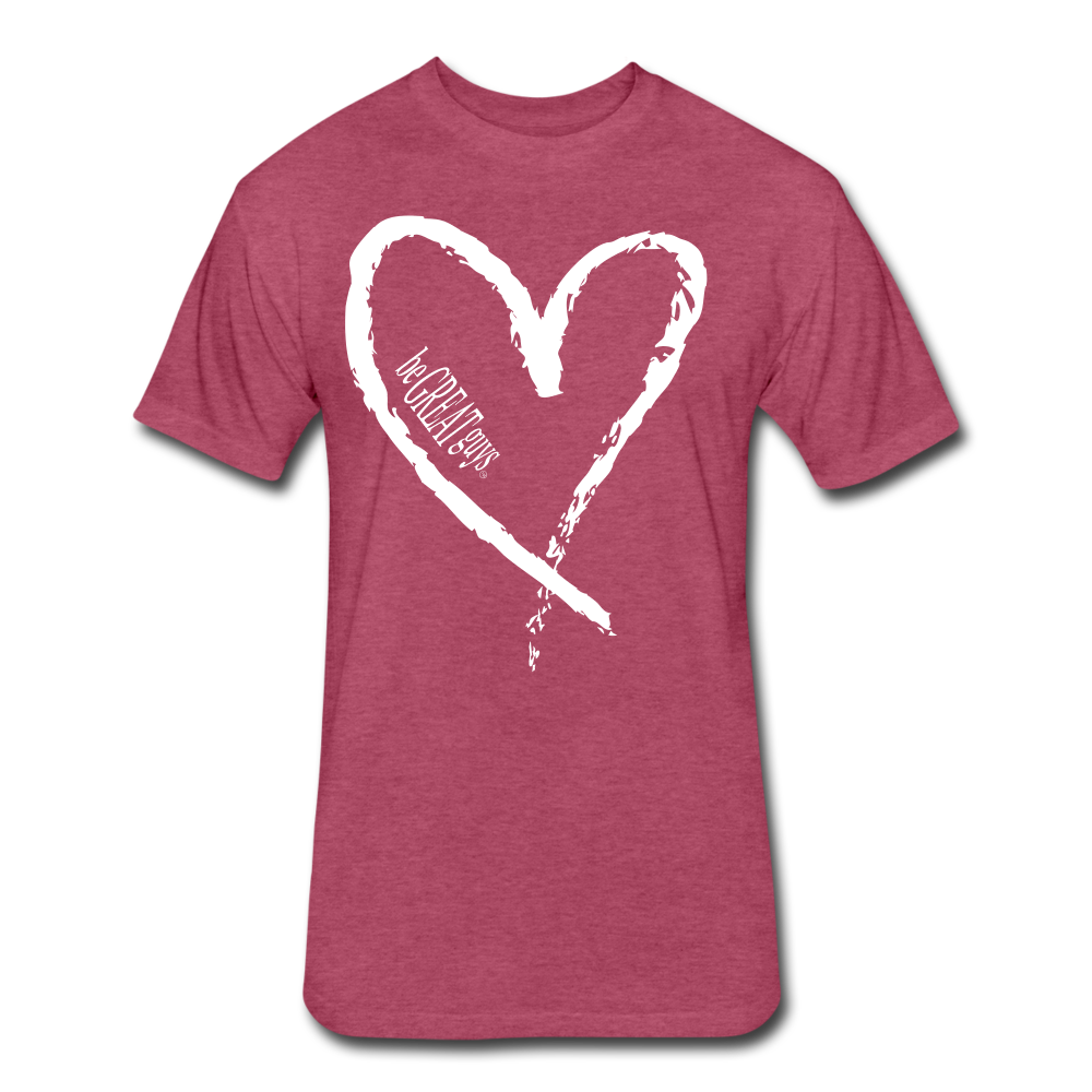 Love More Tri-blend T - heather burgundy