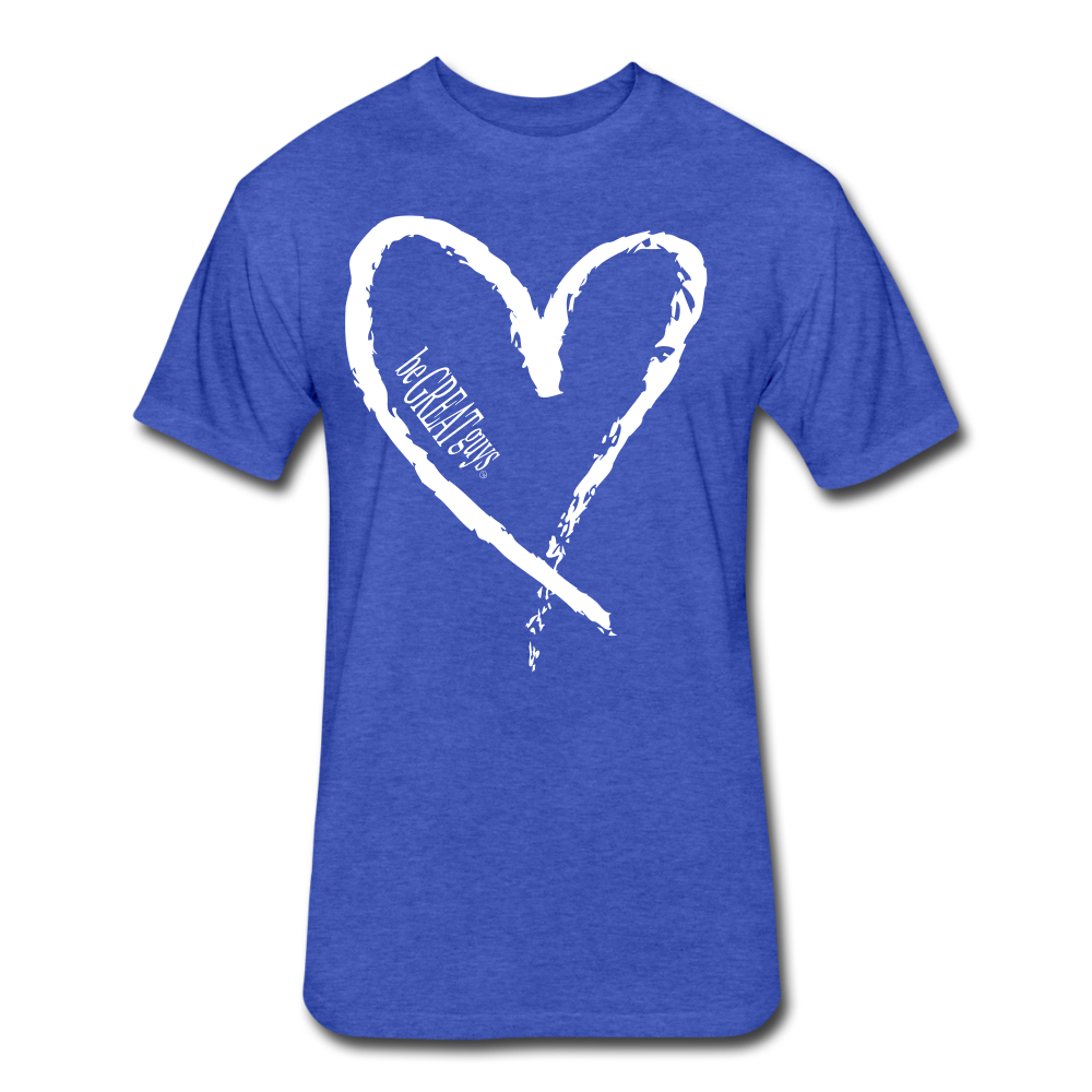 Love More Tri-blend T - heather royal