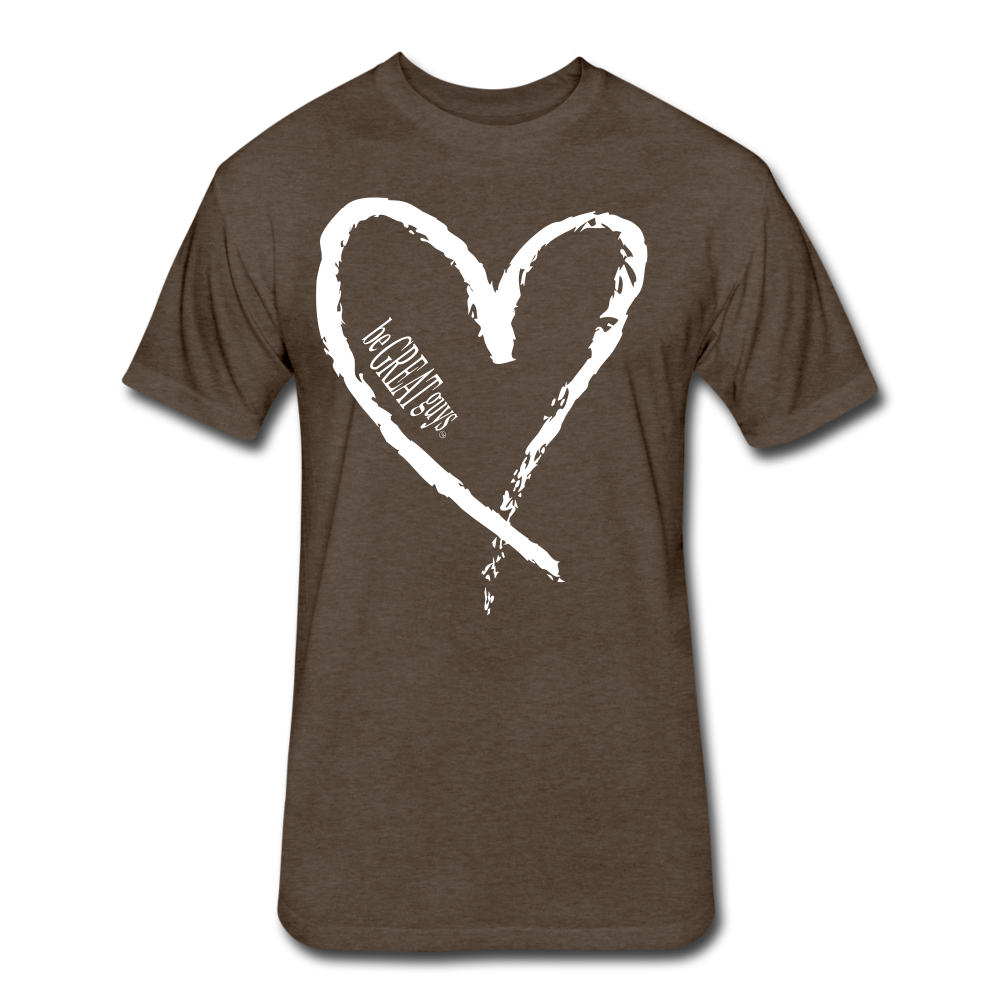 Love More Tri-blend T - heather espresso